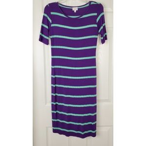 Lularoe scoop neck  stripped dress size xs